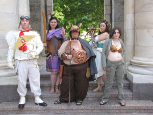 Steampunk Greek Gods – photographed by Foodbyfax at DragonCon 2010